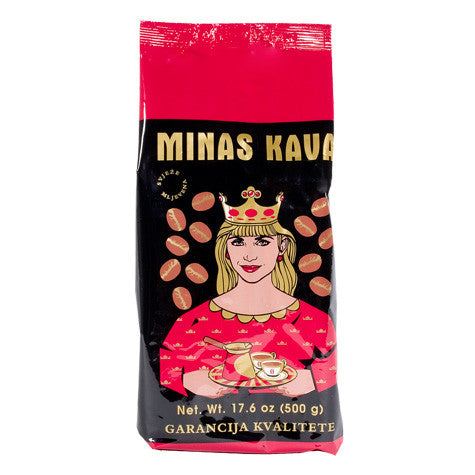 Ground Coffee, Minas Gold Kava, 500g, (UPC 73342601141) Red Shirt - Parthenon Foods