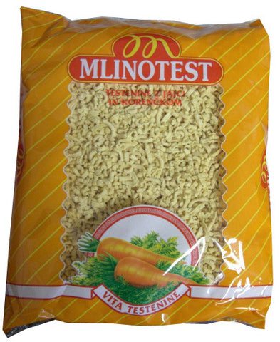 Pasta Drops with Carrots (Mlinotest) 500g (17.6 oz) - Parthenon Foods