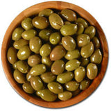 Deli Fresh Nafplion Green Olives, 8oz Dr.Wt. - Parthenon Foods