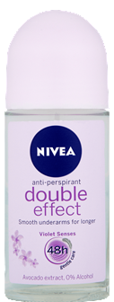 Nivea Double Effect Violet for Women Roll-On Deodorant, 50ml