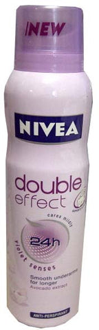 Nivea Spray Deodorant, Double Effect Violet, 150ml - Parthenon Foods