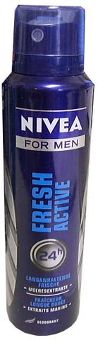 Nivea Spray Deodorant, Fresh Active For Men, 150ml - Parthenon Foods