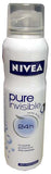 Nivea Spray Deodorant, Pure and Sensitive, 150ml - Parthenon Foods