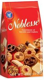 Assorted Biscuits and Wafers - Noblesse   400g - Parthenon Foods