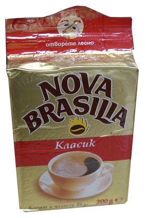 Nova Brasilia Ground Coffee, Classic, 200g, red pack - Parthenon Foods