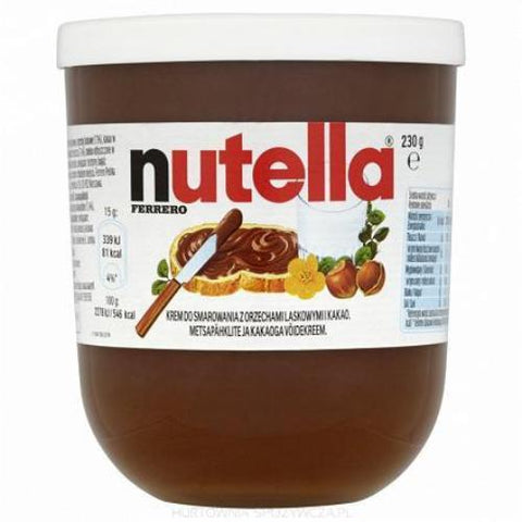 Nutella Hazelnut Spread IMPORTED 8.11 oz Glass - Parthenon Foods
