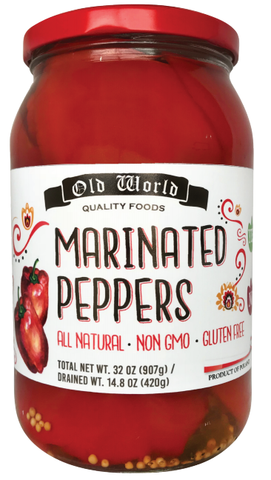 Marinated Peppers (Old World) 32 oz - Parthenon Foods