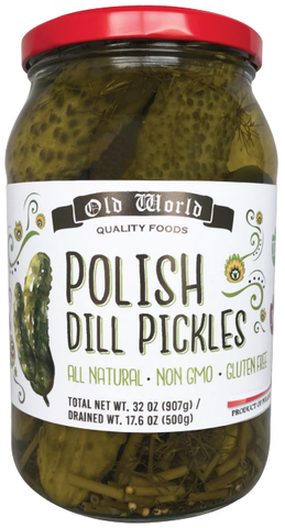 Polish Dill Pickles (Old World) 32 oz - Parthenon Foods