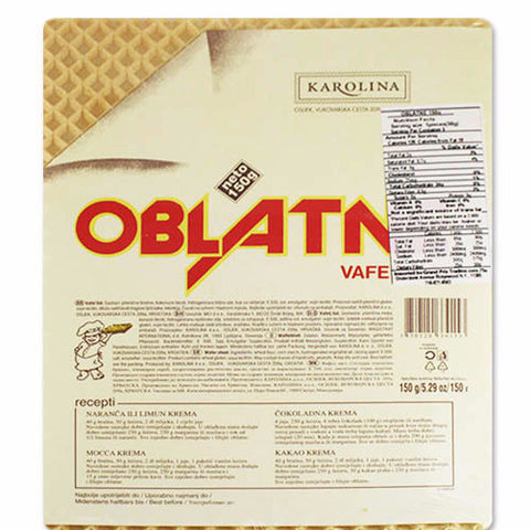 Tort Wafers (THICK) Oblatne, 150g, 5 sheets (Sloboda) - Parthenon Foods