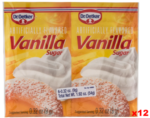 Vanilla Sugar, (Oetker) CASE 12x(6x0.32oz)54g - Parthenon Foods