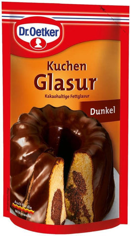 Dr Oetker Dunkel Kuchen Glasur 125g/4.4oz Dark Chocolate Icing - Parthenon Foods