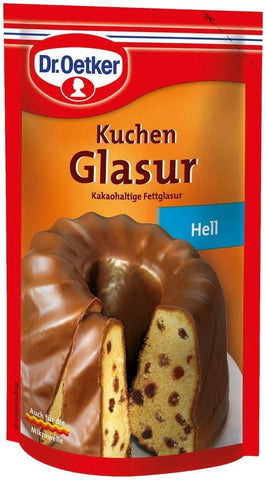 Dr Oetker Hell Kuchen Glasur 125g/4.4oz Milk Chocolate Icing - Parthenon Foods