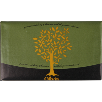 OLIVIA Olive Oil Soap with Honey, 125g - Parthenon Foods