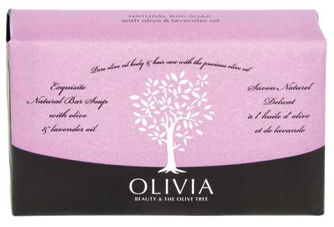 OLIVIA Olive Oil Soap with Lavender Oil, 125g - Parthenon Foods