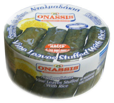 Vine Leaves Stuffed with Rice, Dolma (Onassis) 280g - Parthenon Foods