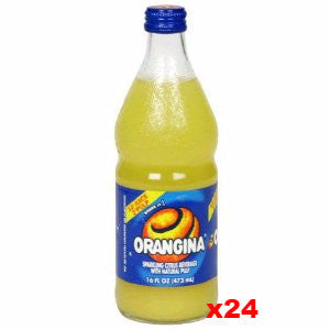 Orangina Sparkling Citrus Beverage, CASE (24 x 16 oz Bottles) - Parthenon Foods