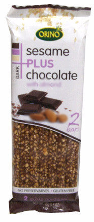 Orino Sesame PLUS Chocolate with Hazelnuts, 45g - Parthenon Foods