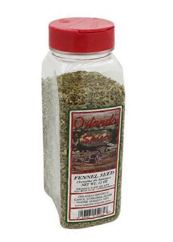 Fennel Seed, Whole (Orlando Spices) 12 oz - Parthenon Foods