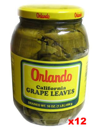 California Grape Leaves -Orlando, CASE, (12 x 2lb jar, DR.WT. 16oz) - Parthenon Foods