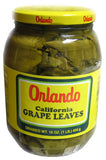California Grape Leaves -Orlando 2lb jar, DR.WT. 16oz - Parthenon Foods