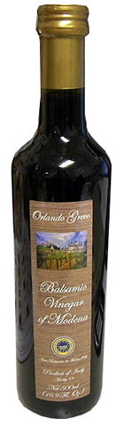 Vinegar - Balsamic of Modena, (OrlandoGreco) 16.9 fl.oz. (500ml) - Parthenon Foods