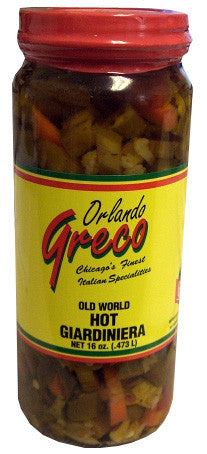 Giardiniera Hot (orlando greco) 16oz - Parthenon Foods