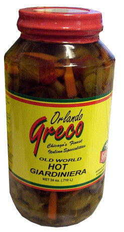 Giardiniera Hot (orlando greco) 24oz - Parthenon Foods