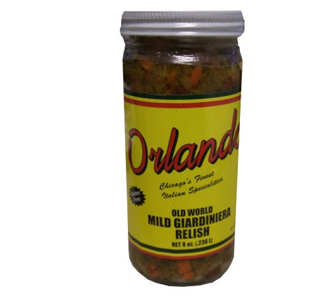 Mild Giardiniera Relish, 8oz - Parthenon Foods