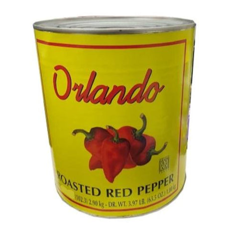 Roasted Red Peppers (Orlando) 102.3 oz, #10 Can - Parthenon Foods