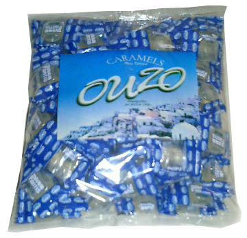 Ouzo Hard Candy (Fantis) 1lb - round tablets - Parthenon Foods