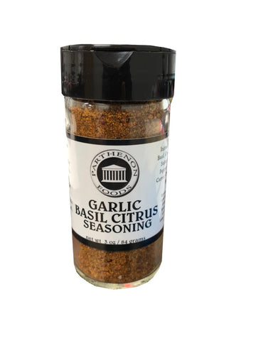 Garlic, Basil & Citrus Seasoning (Parthenon Foods) 2.75 oz - Parthenon Foods
