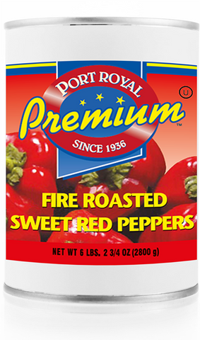 Roasted Red Peppers (Port Royal) 2800g #10 Can - Parthenon Foods