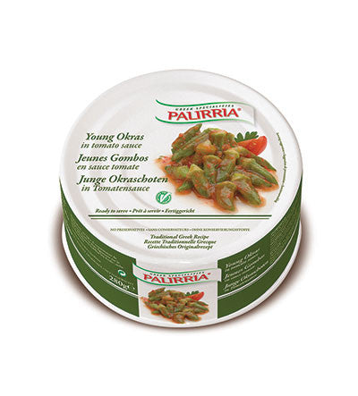 Young Okra in Oil (Palirria) 280g - Parthenon Foods
