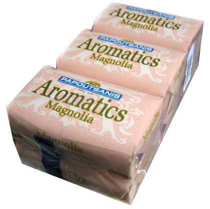 Aromatics Luxary Soap, Magnolia, CASE (6 x 125g) - Parthenon Foods