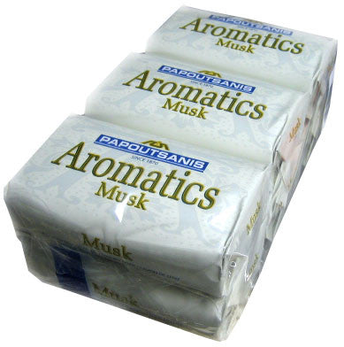 Aromatics Luxary Soap, Musk, CASE (6 x 125g) - Parthenon Foods