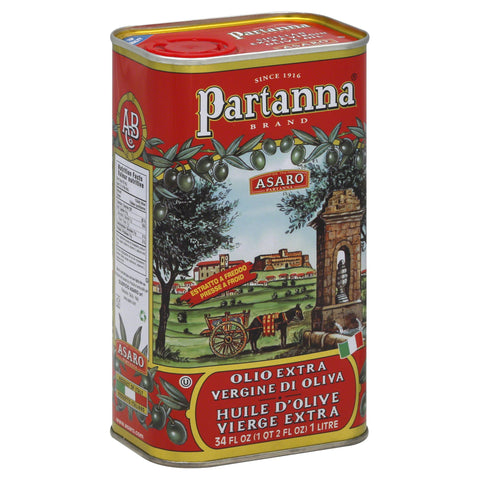 Partanna Extra Virgin Olive Oil, 1L Tin - Parthenon Foods