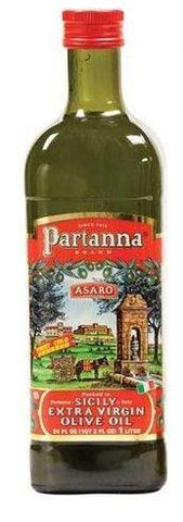 Partanna Extra Virgin Olive Oil, 1 L Glass - Parthenon Foods