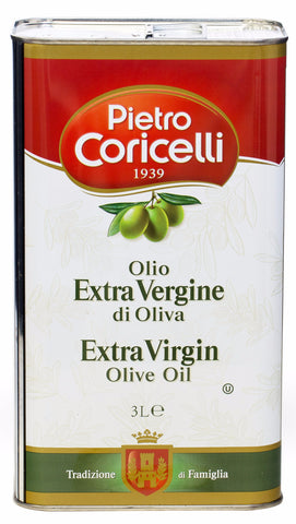 Extra Virgin Olive Oil (Pietro Coricelli) 3 L (101 oz) - Parthenon Foods