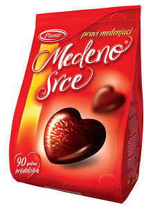 Honey Heart - Chocolate Coated Filled Honey Cakes (pionir) 150g - Parthenon Foods