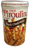 Creme de Pirouline, Dark Chocolate Wafers, 14 oz (400g) - Parthenon Foods