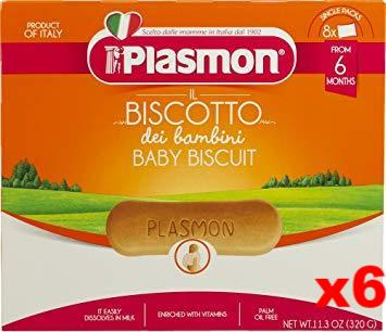 Plasmon Biscotti, 11.3-Ounce Boxes (Pack of 6) - Parthenon Foods
