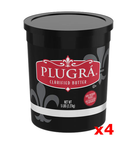 Plugra Clarified Unsalted Butter, CASE (4 x 5 lb Plastic TUBS) - Parthenon Foods