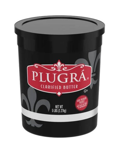 Plugra Clarified Unsalted Butter, 5 lb Plastic TUB - Parthenon Foods
