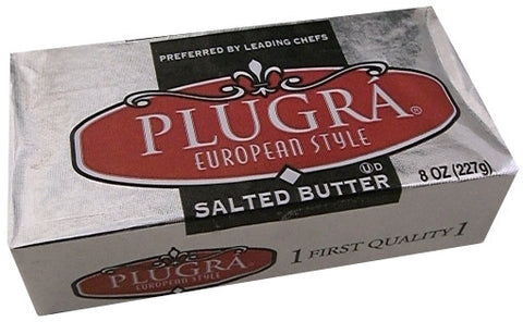 Plugra European Style SALTED Butter, 8 oz (227g) - Parthenon Foods