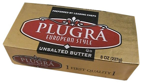 Plugra European Style Unsalted Butter, 8 oz (227g) - Parthenon Foods