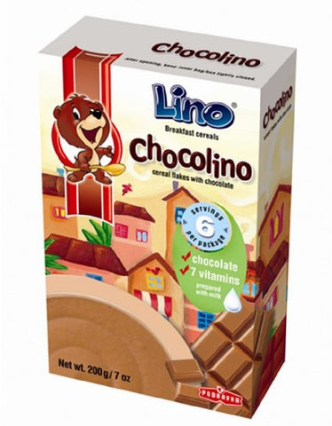 Cereal Flakes with Chocolate- Cokolino, CASE, 14x7oz - Parthenon Foods