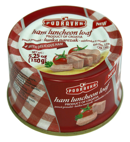 Ham Luncheon Loaf (Podravka) 5.25 oz (150g) - Parthenon Foods