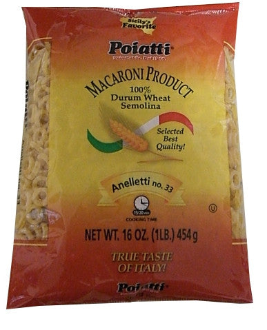 Anelletti No. 33 (Poiatti) 16 oz (1lb) - Parthenon Foods  - 1