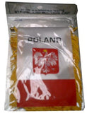 Polish Flag with String and Suction Cup, 4x6 in. - Parthenon Foods