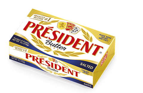 President Imported SALTED Butter, 7oz (199g) - Parthenon Foods